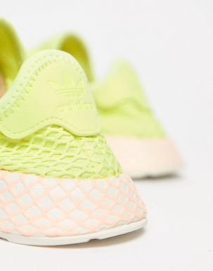 adidas Originals Deerupt Trainers In Yellow And Lilac 3