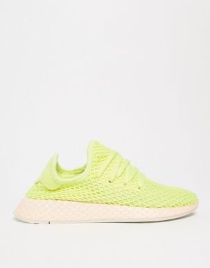 adidas Originals Deerupt Trainers In Yellow And Lilac 4