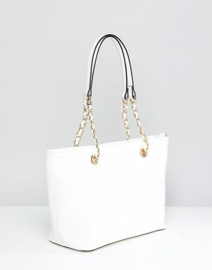 ALDO Structured Shopper Tote Bag With Chain Detail Handle 2