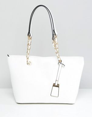 ALDO Structured Shopper Tote Bag With Chain Detail Handle