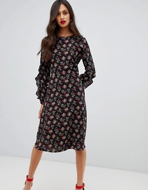 AX Paris long sleeve printed midi dress 1