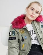 Bershka Badge And Patch Detail Parka 4