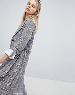 Bershka Check Trench 3