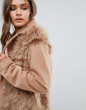 Glamorous Shaggy Faux Fur Coat 3