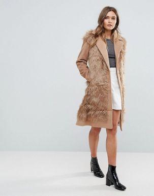 Glamorous Shaggy Faux Fur Coat 4