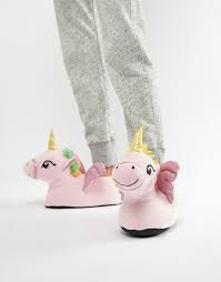 Loungeable novelty unicorn slippers 1