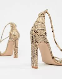 Simmi Vanessa snake clear detail heeled sandals 3