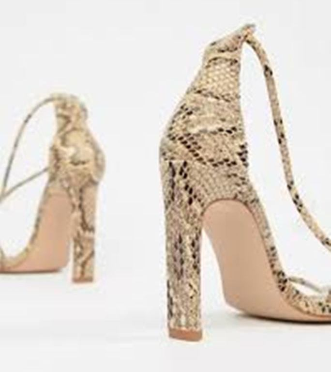 3f6ea2875bc Simmi Vanessa snake clear detail heeled sandals – She s Buy