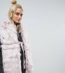 Urbancode Faux Fur Pink Scarf with Ring Fastening 1