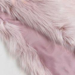 Urbancode Faux Fur Pink Scarf with Ring Fastening 3
