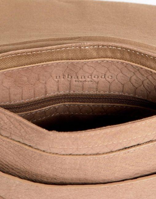 Urbancode leather cross body bag in snake effect 3