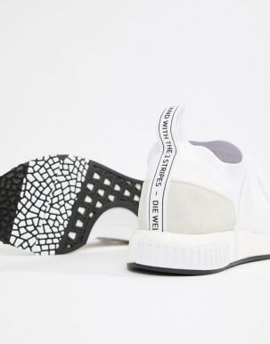 adidas Originals NMD Racer PK Trainers In White B37639 3