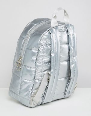 ASOS DESIGN quilted metallic backpack2