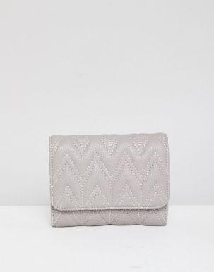 ASOS DESIGN zig zag quilt purse