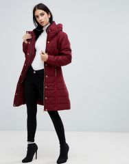 AX Paris belted padded jacket with faux fur lining1