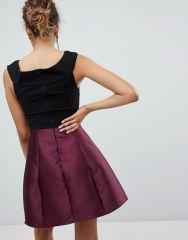 AX Paris Cross Front Dress With Contrast Skirt1