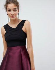 AX Paris Cross Front Dress With Contrast Skirt3