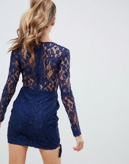 AX Paris lace dress with tassle detail1