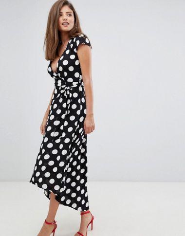 AX Paris polka dot wrap maxi dress1