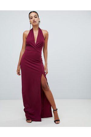 AX Paris ruched halterneck maxi dress