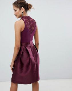 AX Paris Skater Dress With Lace Detail