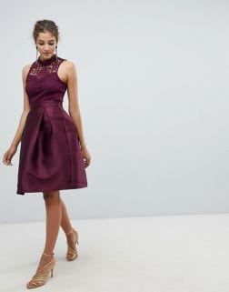 AX Paris Skater Dress With Lace Detail2