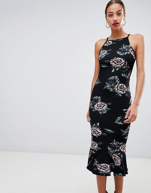 AX Paris square neck pencil midi dress