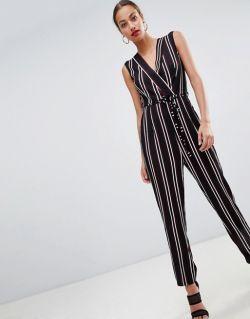 AX Paris striped tailored jumpsuit
