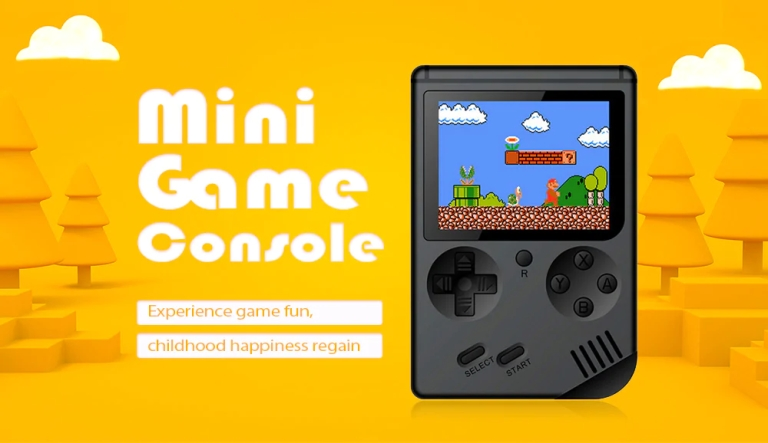 Children Mini Nostalgic Handheld Game Console - BLACK1