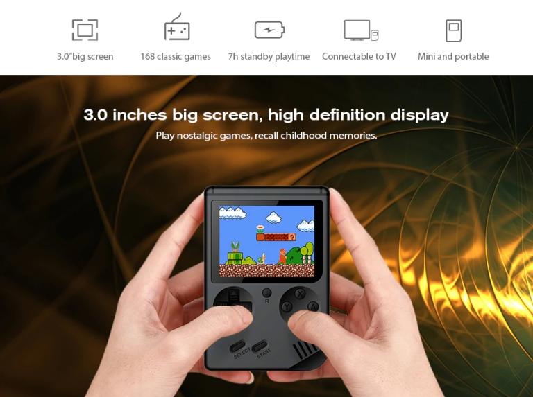 Children Mini Nostalgic Handheld Game Console - BLACK2
