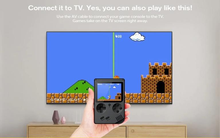 Children Mini Nostalgic Handheld Game Console - BLACK4