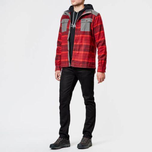 Columbia Men's Deschutes River Shirt Jacket - Rusty Large Plaid2
