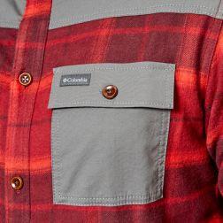 Columbia Men's Deschutes River Shirt Jacket - Rusty Large Plaid5