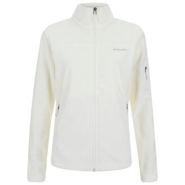 Columbia Women's Fast Trek II Full Zip 250g Fleece Top - White