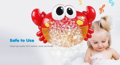 Crab Music Bubble-blowing Bathing Machine for Kids - FIRE ENGINE RED9