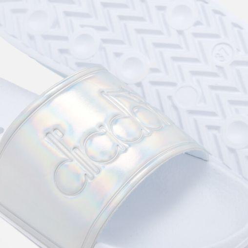 Diadora Women's Serifos '90s Slide Sandals - Silver3
