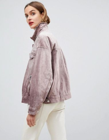 Free People velvet trucker jacket1