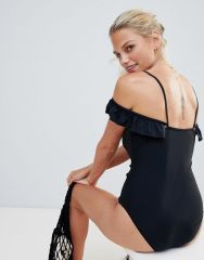 French Connection Cold Shoulder Swimsuit1