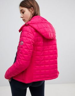 Fuji hooded quilt jacket1
