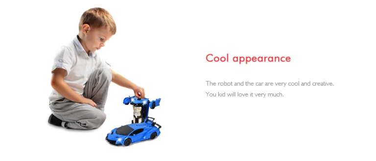 Gesture Sensing Remote Control Robot One Button Transformation Car Toy4