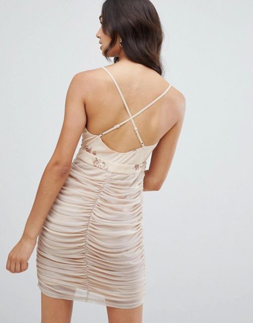 Girls on Film strappy bodycon dress with sequin detail 2