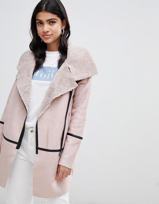 Glamorous faux shearling coat