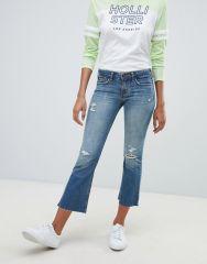 Hollister destroyed kick flare jeans
