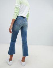 Hollister destroyed kick flare jeans1