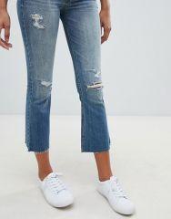 Hollister destroyed kick flare jeans2