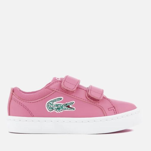 Lacoste Toddlers' Straightset Lace 118 1 Trainers - Pink