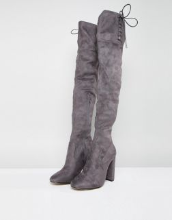 Lipsy Faux Suede Over The Knee Boots1