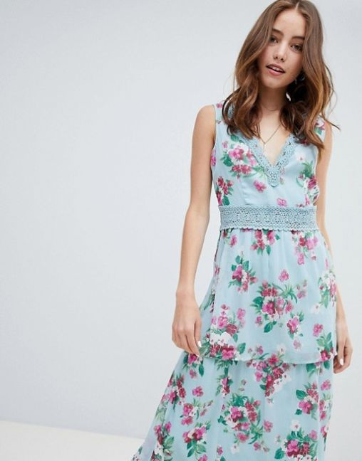 Miss Selfridge Tiered Floral and Ruffle Dress2