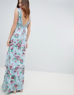 Miss Selfridge Tiered Floral and Ruffle Dress3