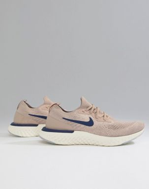 Nike Running Epic React Flyknit trainers in beige 1